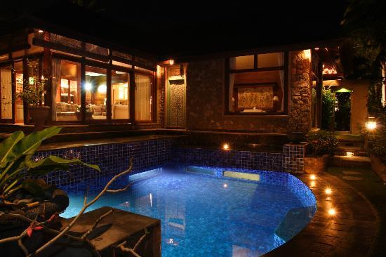 Peruna Saba Villas : Villa Aloha Featuring underground Bedroom and living room