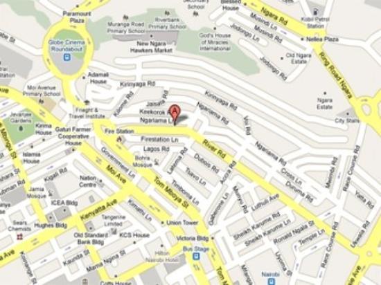 Hotel Kipepeo: Map