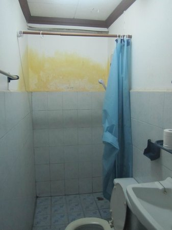 Chanta Guest House : our shower, You would probably be dirtier getting out of it. No Thank you!!