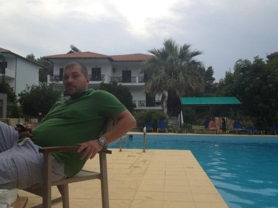 Giannikos: chilling after dinner