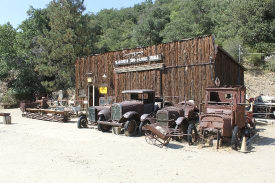 Eagle and High Peak Mine: Company Store with the Mine Museum inside. With collection of mine related vehicles,