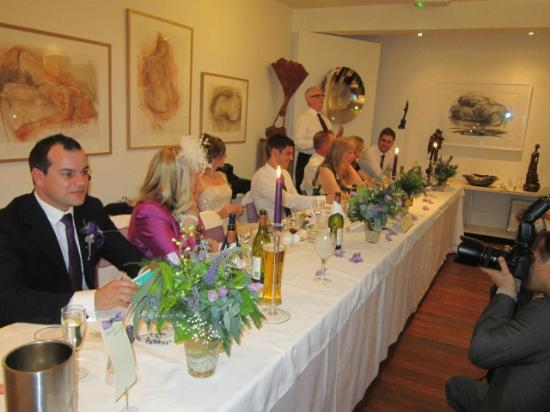 Broomhill Art Hotel : Top Table in the Gallery