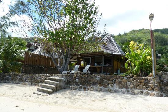 Fare Aute: Le bungalow depuis la plage 