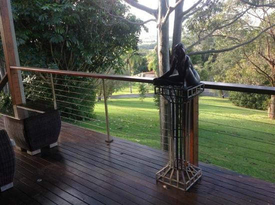 Gaia Retreat & Spa: Kakura House deck outlook. 