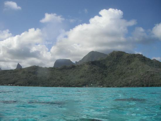 Fare Aute: Vue de l'ile depuis les kayacs de la pension