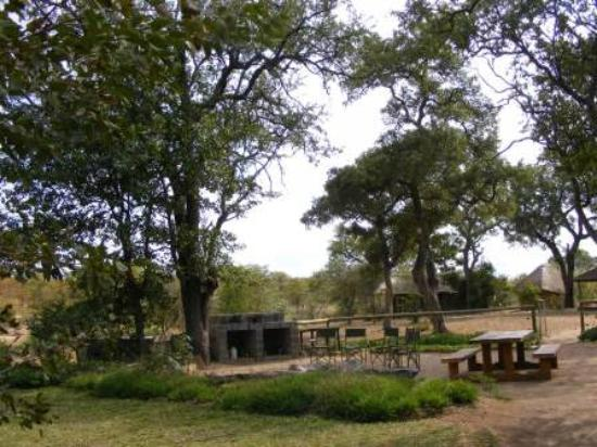 Shindzela Tented Camp: The fire area