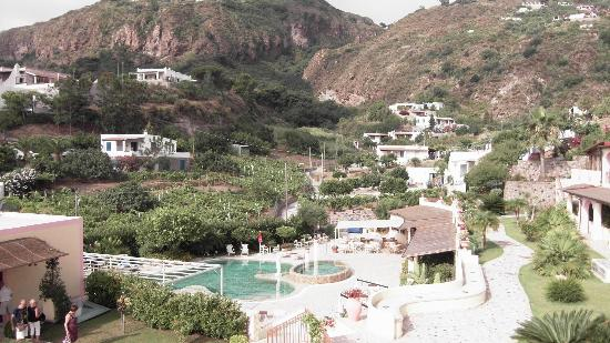 Hotel Tritone : Vista verso l'isola dall'hotel