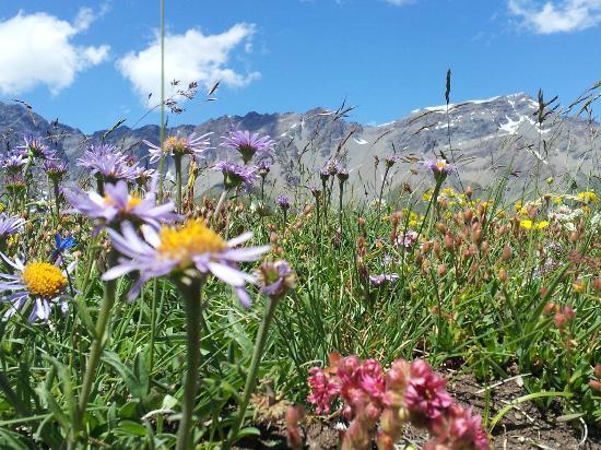 Les Balcons de Val Cenis Le Haut : Hiking along the mountain