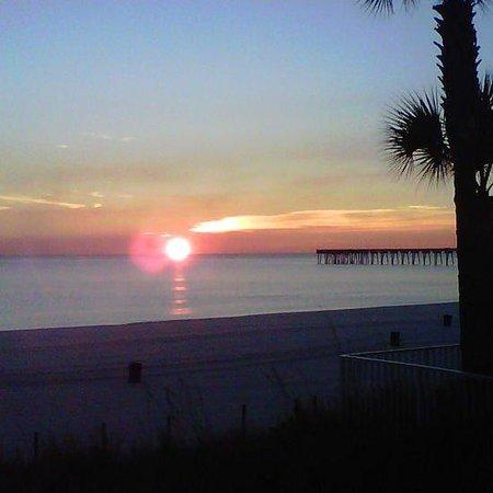 Beach Tower By The Sea: Beautful Sunset