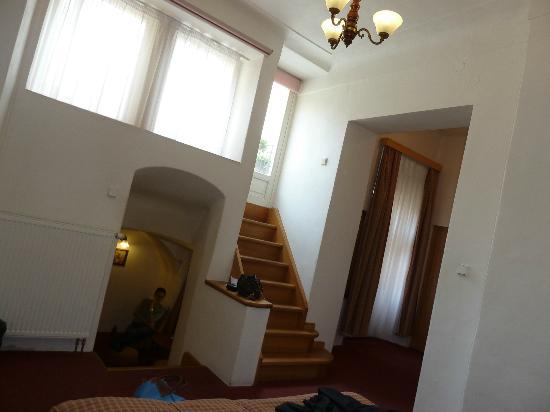 Hotel King George : accès a la terrasse privée