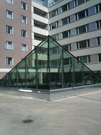 Hostel Domus Academica: стеклянная крыша над столовой