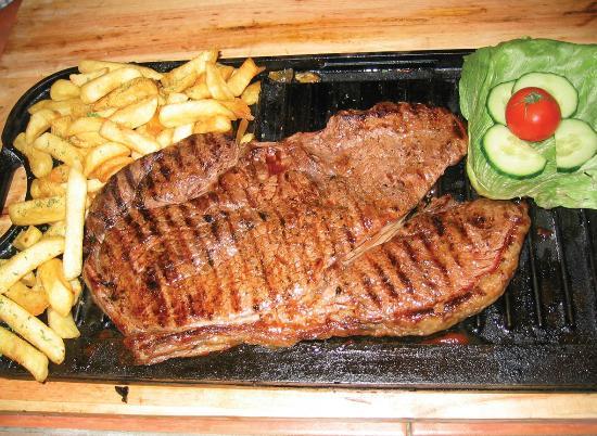 Sir Alfred Hitchcock Hotel: 1kg Rump steak 