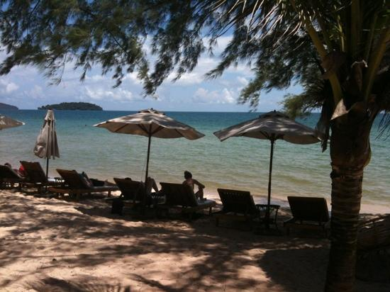 Otres Beach : view from my beach hut