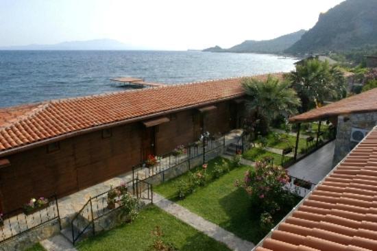 Assos Sardunya Butik Hotel: Tepeden görünüm