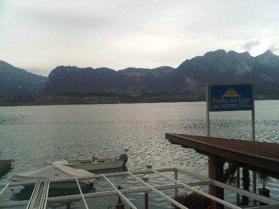 Hotel Ristorante Stella del Lago: view from restaurant..