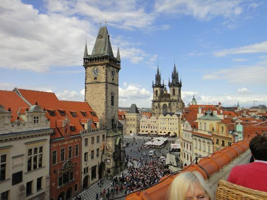View of square from roof top terrace picture of hotel u for Terrace u prince prague