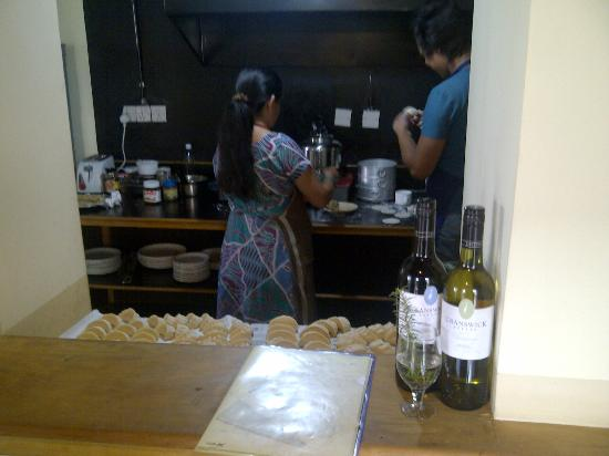 Traditional Homes - SWOTHA: Cafe Swotha staff making momos