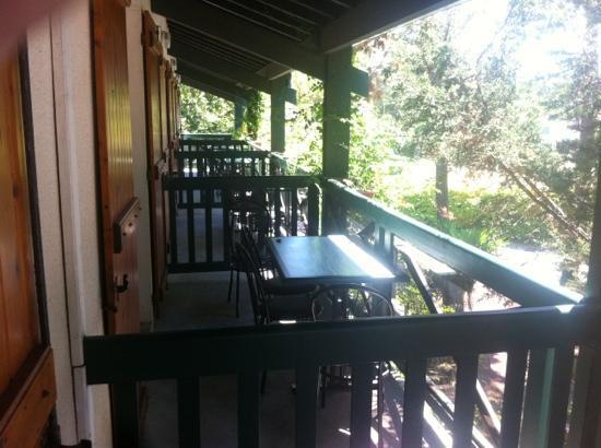 Le Palmyrotel : Les balcons