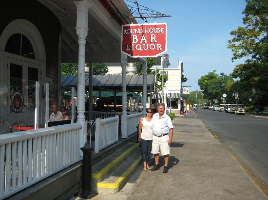 Round House Bar: My wife and I by the Round House porch.