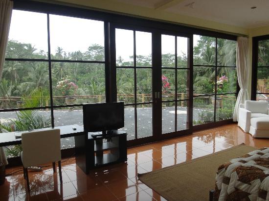Villa Selat: VISTA DE OTRA HABITACION Y LIVING