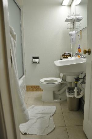 Falls Motel: Salle de bain couloir