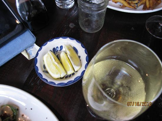 Locale Mercatto : Sicilian lemon with fish is a must to me.
