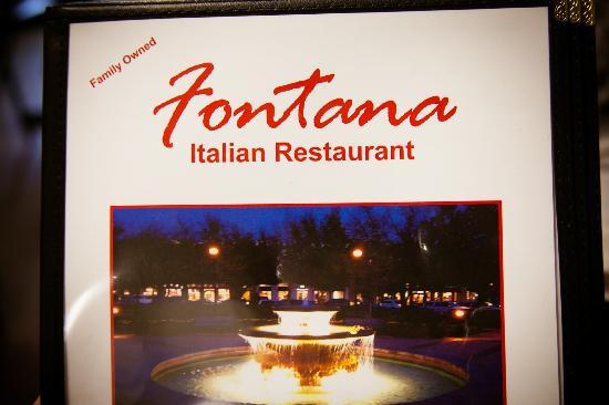 Fontana Italian Restaurant: menu