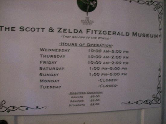 The Scott and Zelda Fitzgerald Museum: Front door