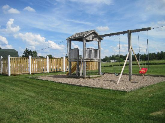 Lakeview Lodge & Cottages: Playgroud by pool