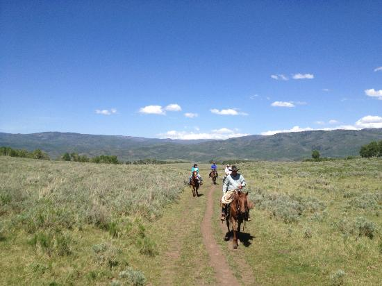 The Lodge and Spa at Three Forks Ranch: Horseback riding - led by Shawn Foster (the ultimate cowboy)