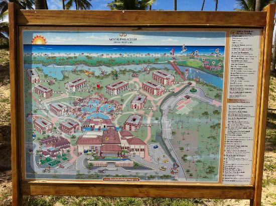 Mapa Do Hotel Picture Of Grand Palladium Imbassai Resort Spa
