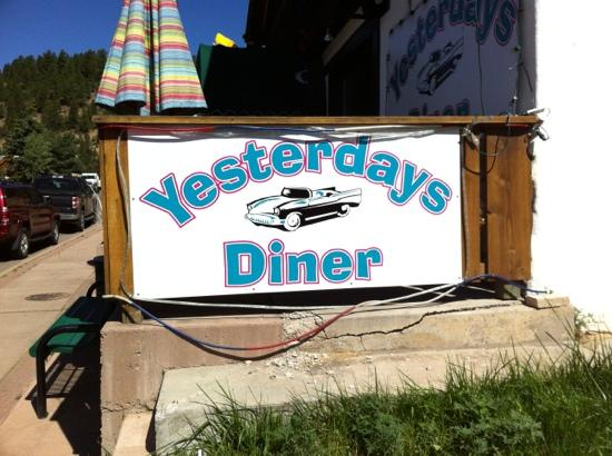 Yesterday's Diner: Menu themed by 60's TV shows