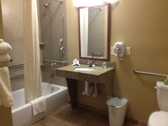 Candlewood Suites Lexington: Handicapped bathroom - we like the xtra space