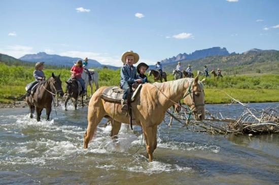 Triangle C Dude Ranch: Riding Butterfly through the Wind River
