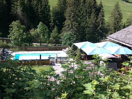 Les Chalets de la Serraz: La piscine vu d'en haut