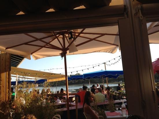 La Station: vue depuis la terrasse du restaurant