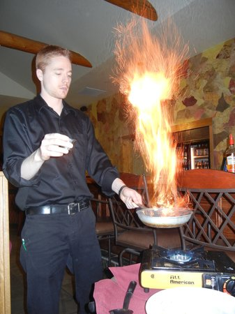 Tabeguache Steak House: Banana Foster Flambe'