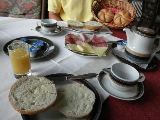 Pension Garni Waldrast : breakfast - there is a small buffet with a typical variety of muesli, yogurt etc.