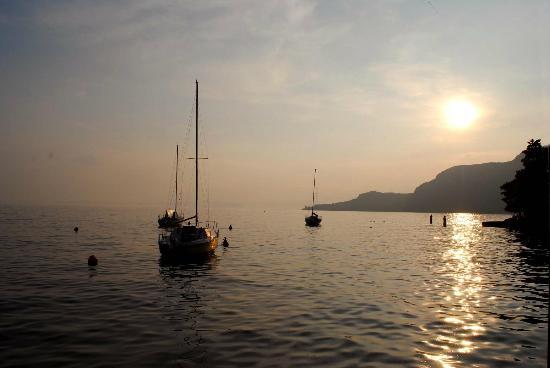 Hotel Terminus: View across Lake from Garda town