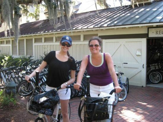 Montage Palmetto Bluff: Pick up your bike! This is how you'll get around all week