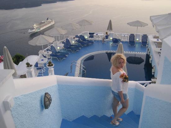 Kafieris Blue Apartments: wonderfull view