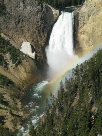 BrushBuck Wildlife Tours: the lower falls with rainbow