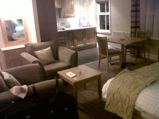 Thurnham Hall: il salotto della camera (eravamo nella dependace)