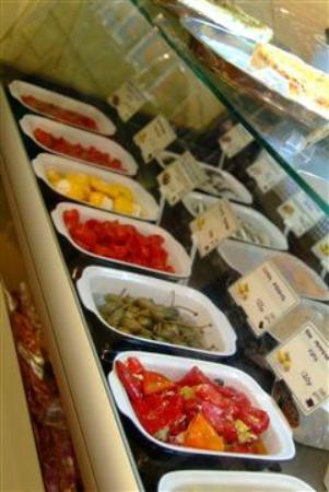 The Brixham Deli: antipasta counter