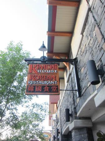 Kimchi house: Signage