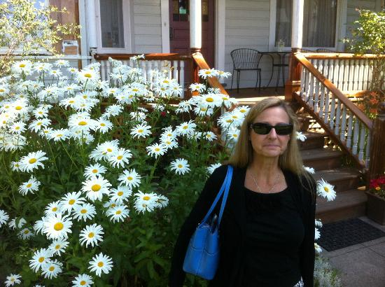 Joseph Mattey House: Front porch and flowers