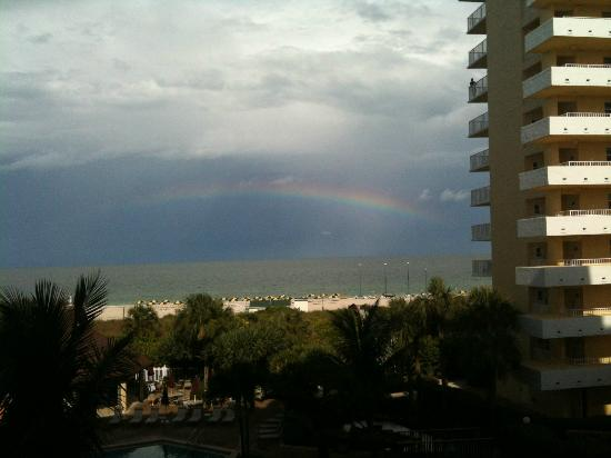 The Charter Club of Marco Beach: rainbow at the beach