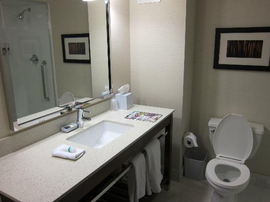 Four Points by Sheraton Downtown Seattle Center: Bathroom (shower only - no bathtub)