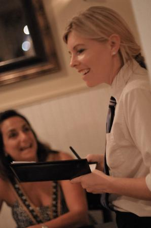Capriccio Ristorante: Abby serving not just food,..but her lovlely too