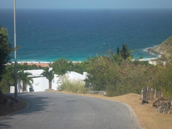 Guana Bay Beach Villas: road leading to the villa